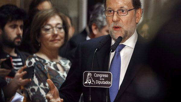 ACTING SPANISH PRIME MINISTER SIGNS CERTIFICATION OF ELECTION