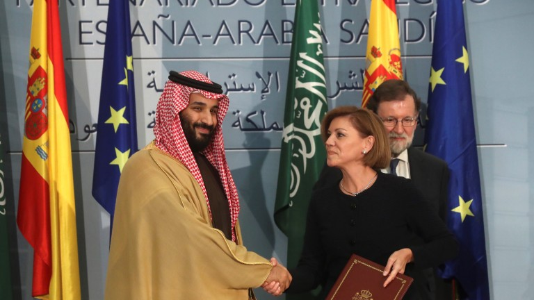 Saudi Arabia's Crown Prince Mohammed bin Salman Abdulaziz al Saud visits Spain