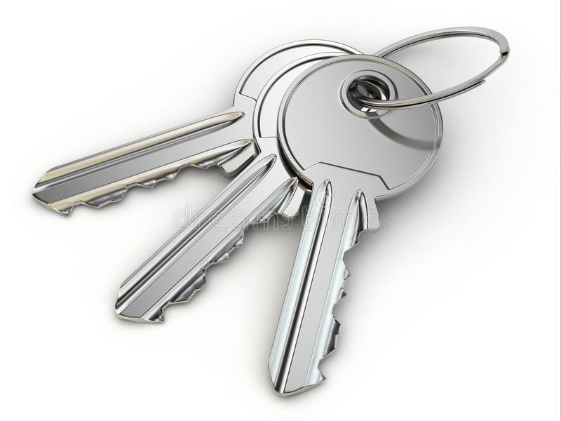 manojo-de-llaves-en-el-fondo-blanco-33789034