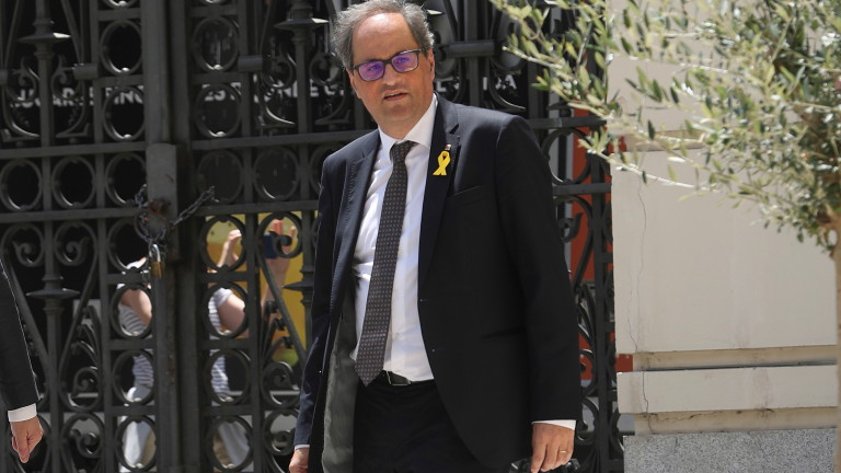 Meeting between Spanish PM Pedro Sanchez and Catalan regional President Quim Torra in Madrid