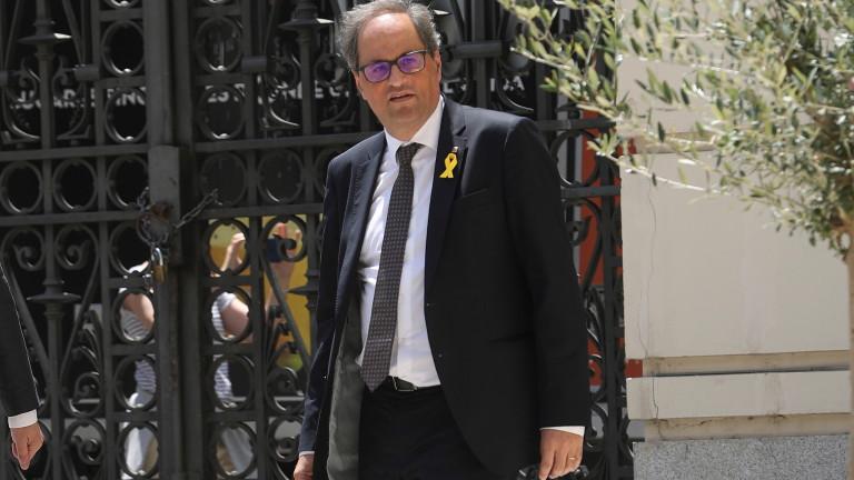 Meeting between Spanish PM Pedro Sanchez and Catalan regional President Quim Torra in Madrid